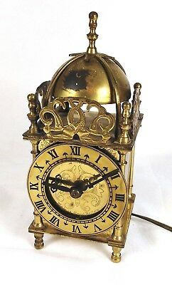 Charming Antique style lantern smiths brass electric mantle clock