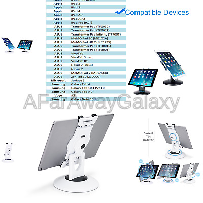 Retail Pos Stand Business Tablet Stand 360° Rotating iPad Commercial Tablet M...