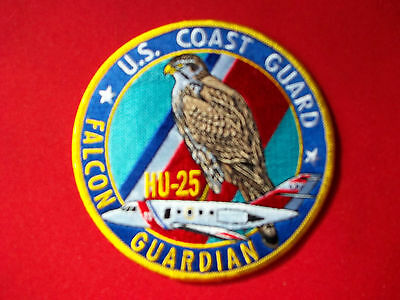 "United States Coast Guard (USCG) patch ""Falcon Guardian HU-25"" 4-1/2 in diameter"