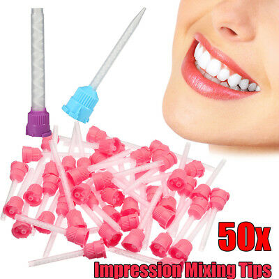 50pc Disposable Mixing Tips Intra Oral Dental PVS Impression Tube Supply