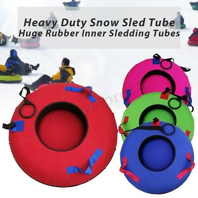 Heavy Duty Colossal Snow Sled Tube Huge Rubber Inner Sledding Colored Cover USA