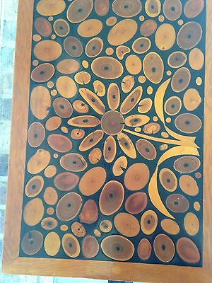 Vintage Hand Crafted Inlaid wood table - Beautiful, ONE OF A KIND signed