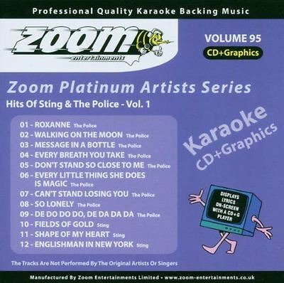 Zoom Karaoke CD+G - Platinum Artists 95: Sting & The Police CDG Brand New Sealed