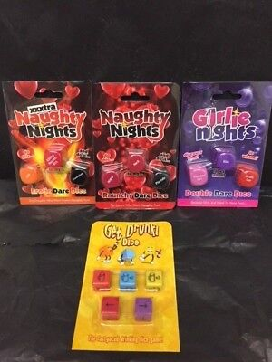 decision dice XXXtra Naughty Nights Naughty & Sexy Dice/ drink Game For Couples