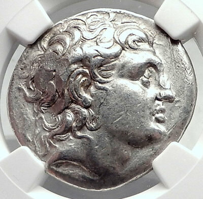 LYSIMACHOS Silver Greek Tetradrachm Coin w ALEXANDER III the GREAT NGC i73060