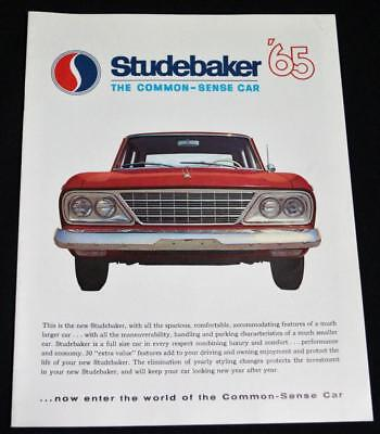 1965 Studebaker Automobiles Car Advertising Sales Brochure Guide Vintage