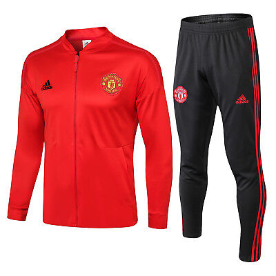 Manchester United Presentation Jacket & Pants Tracksuit 2018/19 Red Men BrandNew