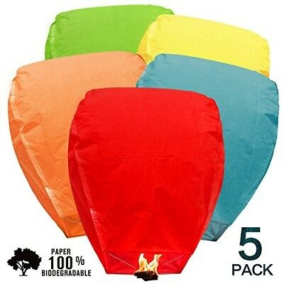 Sky Lanterns Chinese Biodegradable Paper Bulk Assortment Romantic Holiday Party