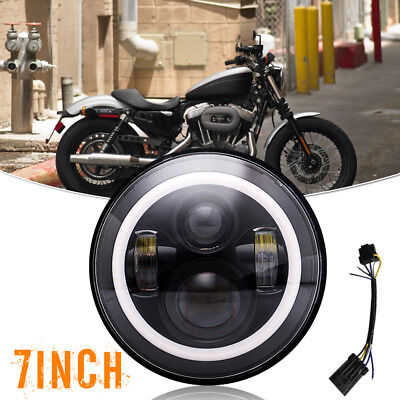 """Passing Fog Lamp+7"""" Motorcycle Led Daymaker Head1ight Fit Yamaha XVS Stryker"""