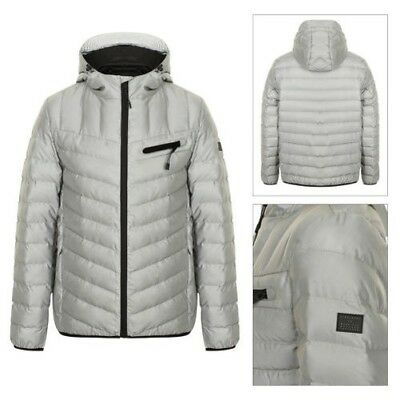Dissident Mens Pinnacle Coat Padded Reflective Hooded Quilted Winter Warm Jacket