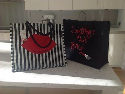 Lulu Guinness 2 Tesco Reusable Don t Forget This Bag Red Lips Jute Tote  Shopping 9a165fdde9