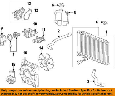 HONDA OEM 09-13 Fit-Engine Water Pump 19200RB0003