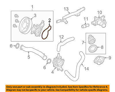 HONDA OEM-Engine Water Pump Gasket 19222RW0003