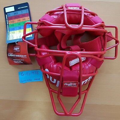 SUPREME RAWLINGS Catcher's Mask RED (One Size) Authentic catchers ss18