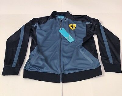 Racing Ferrari Style Jacket Franky Max Mens Sz XL TJ-3456 MC Shadow Blue