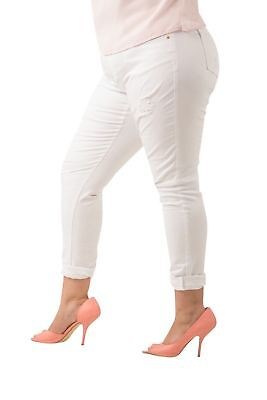 011e0e358f9 Poetic Justice Curvy Women s Plus Size White Stretch Light Destroyed Jeans  16R
