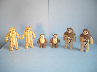 Lot Star Wars vintage figures ewoks Logray Chief Chirpa Wicket loose ROTJ