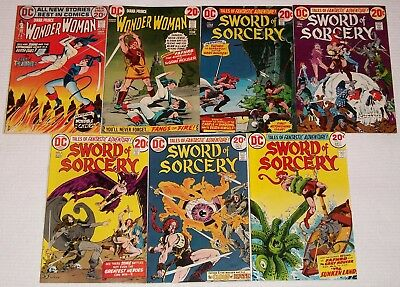 Wonder Woman 201 202 Catwoman Sword of Sorcery 1-5 Key Bronze Age Lot 1st Fafhrd