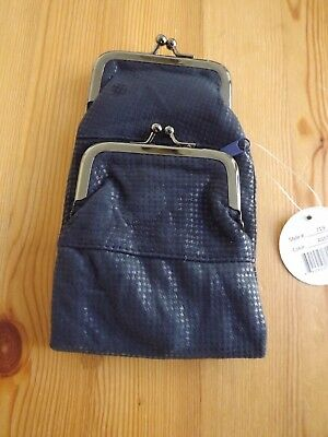Soft Genuine Leather Cigarette Pack Holder Pouch Case Coin Purse Wallet Blue New