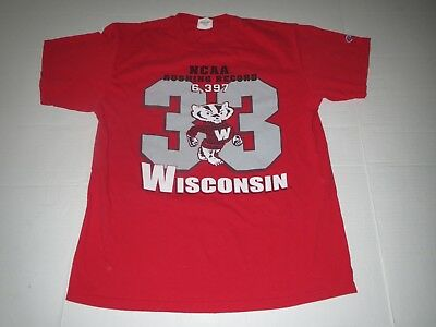 a16d4675c18 Vtg Wisconsin Badgers Ron Dayne  33 Heisman Trophy Champion Brand T-Shirt  Large