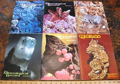MINERALOGICAL RECORD MAGAZINE Vol 7 1976 All 6 Issues Complete Minerals Crystals