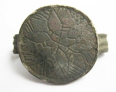Interesting Medieval Ring with Pattern Star 12-13 Century