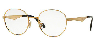 b51fbd912e Ray-Ban Round Gold Frame Clear Metal Crystal 47MM Men s Eyeglasses RX6343  2860