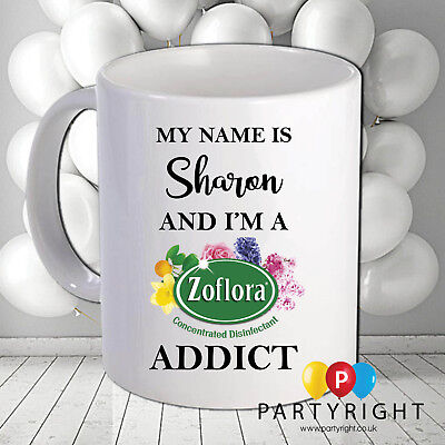 Personalised Zoflora Cleaning Your Name 10oz mug Mrs Hinch
