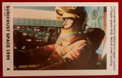 SPACE 1999 - FIGHTING TO REGAIN CONTROL - MINT SUNICRUST Card #4 Australia 1975