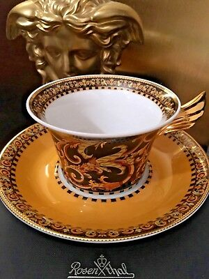 $300 VERSACE CUP SAUCER TEA COFFEE SET BAROCCO ROSENTHAL NEW IN BOX Sconti