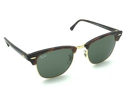 NEW RAY-BAN RB3016 W0366 Tortoise Clubmaster Sunglasses G-15 Green ...