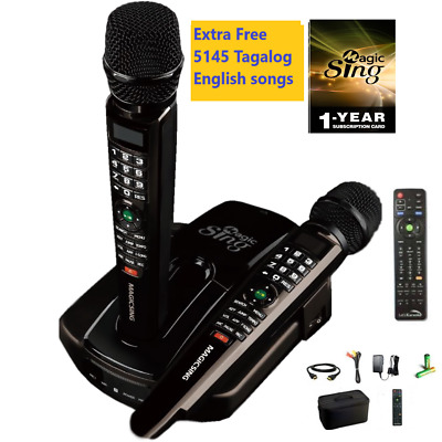 2019 ET23PRO WIFI Magic Sing Karaoke Mic +12K ENG +1year Tagalog Hindi Spanish