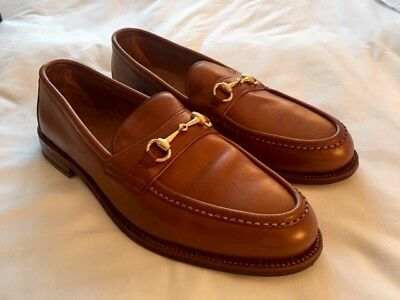 90e9a286090 Alden Horse-Bit Loafers Light Brown Made USA 11D NEW WITH BOX   2 DUST