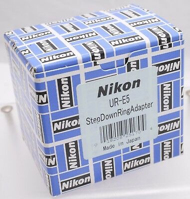 NOS - Nikon Coolpix Step Down Adapter Tube Ring UR-E5 For 5000 WC-E68 46mm