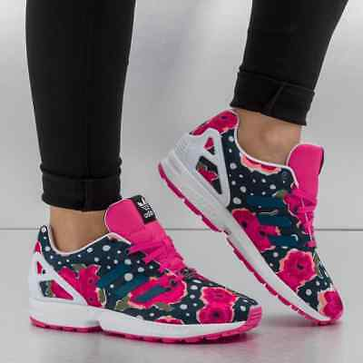 684671da2 Adidas Originals Womens Ladies Girls ZX Flux Floral Trainers - Various Sizes
