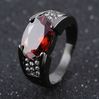 Fashion Black Zircon Dragon Titanium Stainless Steel Men's Wedding Band Rings
