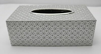 Silver Hearts Dotted Tissue Box 26411