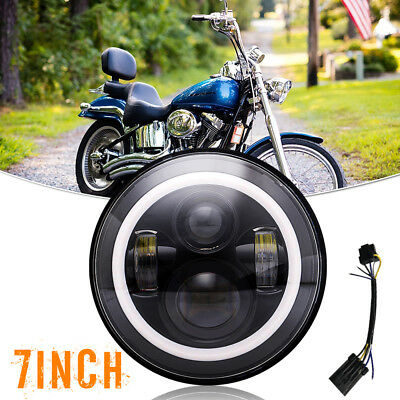 """Motorcycle 7"""" Led Daymaker Head1ight+Passing Fog Lamp Fit Yamaha Road Star 1700"""