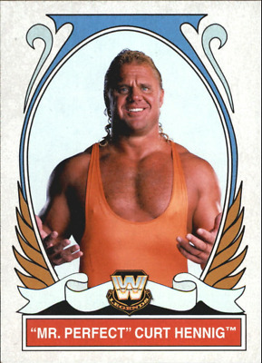 "2008 Wwe Topps Heritage 1V ""mr Perfect - Curt Henning"" Base Trading Card - V/g"