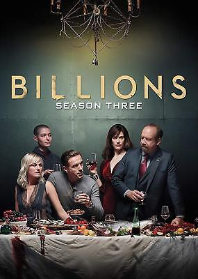 Billions The Third Season 3 Three (DVD, 2018, 4-Disc Set) New FREE SHIPPING