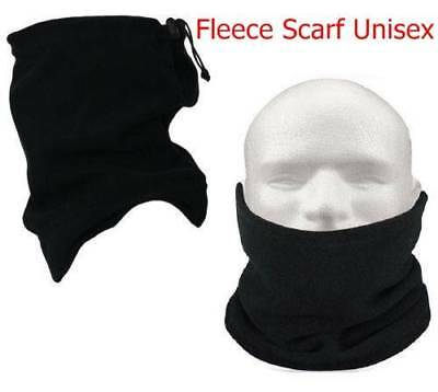 Neck Warmer Winter Snood Tube Thermal Fleece Motorbike Cycling Unisex Black