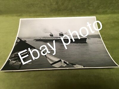 Vintage Rare Huge Ss United States Original Ship Departure Photo Picture