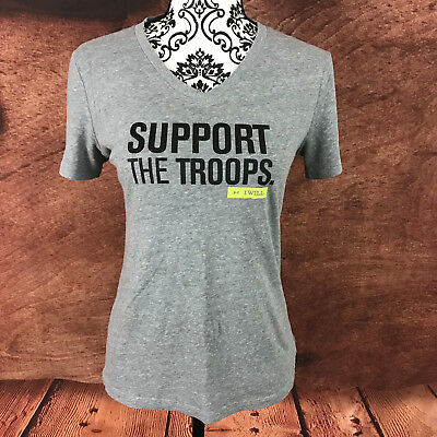 Under Armour Womens Semi Fitted Heat Gear Athletic Top Small Support the Troops