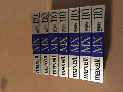 Set Of 7 New  Maxell MX 110 Metal Cassettes Tapes Type IV Made In Japan
