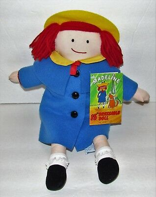 """Eden 1994 Madeline 15"""" Dressable Doll Soft Body With Tag Free Shipping"""