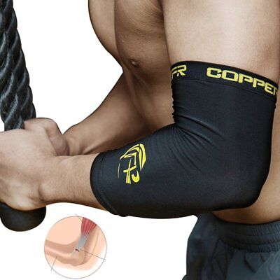 Copper Tennis Elbow Support Brace Arm Sleeve Compression Infused Gym Pain Relief