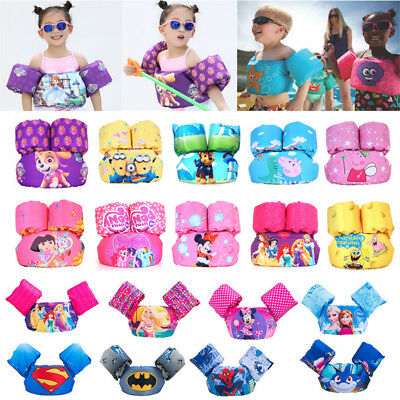 Kids Toddlers Puddle Jumper Swimming Deluxe Cartoon Life Jacket Arm Bands Float