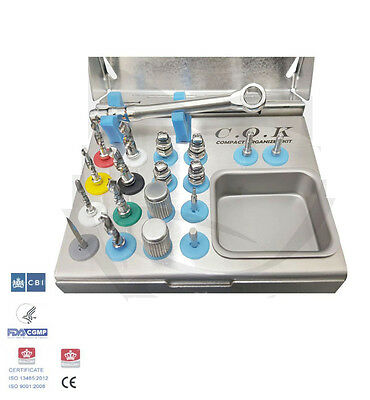 Dental Implant Twist Drills Compact Organized Kit  / Surgical Implant Kit 1pd