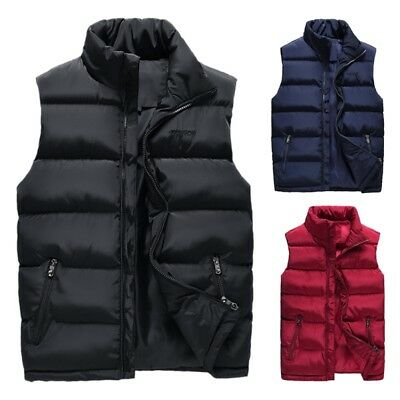 Mens Lightweight Active Quilted Padding Puffer Vest Winter Warm Gilet Outdoor US