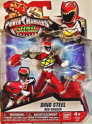 "Power Rangers Dino Super Charge 5"" Dino Steel Red Ranger"